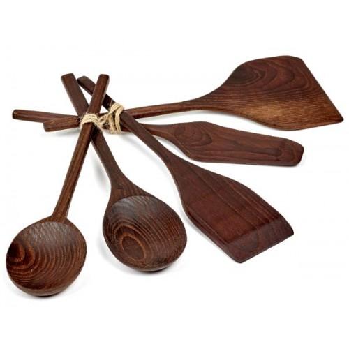 Set de 3 spatules et 2 cuillères en bois PURE by Pascale Naessens